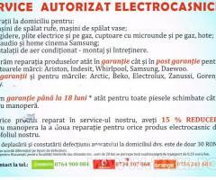 Service autorizat electrocasnice-reparatii la domiciliu Garantie si Post Garantie !