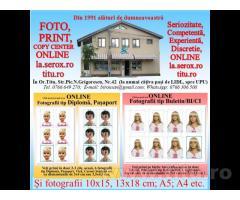 COPY CENTER, SCAN, PRINT - Printari A/N si color format mare A0,A1,A2,A3,A4 -Titu