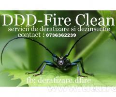 Servicii profesionale de dezinfectie/deratizare/dezinsectie