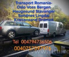 Transport persoane si colete Norvegia - Romania si retur