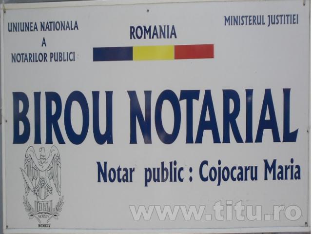 Birou Notarial - Notar public: COJOCARU  MARIA.