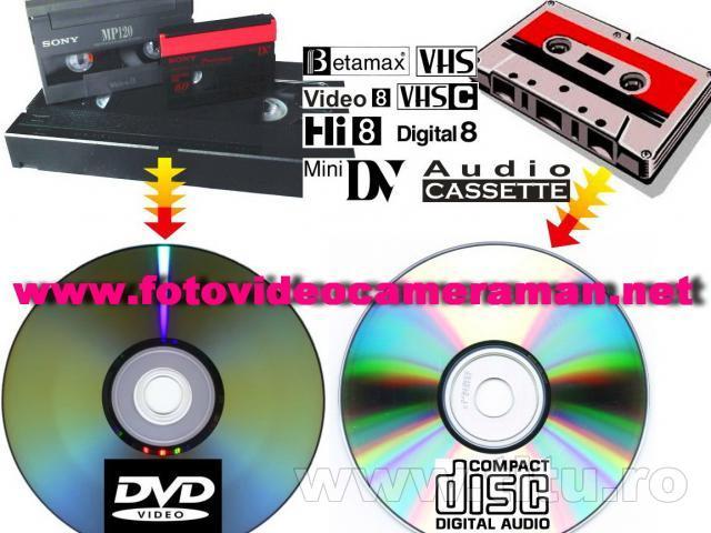 Montaj video,copiere de pe orice tip de caseta pe dvd/bluray