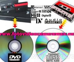 Montaj video,copiere de pe orice tip de caseta pe dvd/bluray