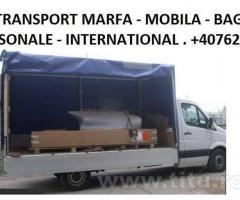 Transport national si International de Marfa si Mobila